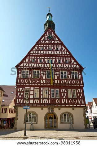 "The old historical town house of ""Backnang"" Baden W�¼rttemberg, Germany"