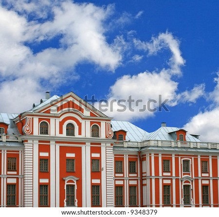 The old house in style of a baroque - St.Petersburg, Russia