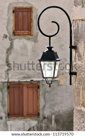 The old lantern - Briancon, France - stock photo