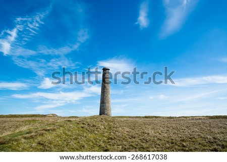The old lead mine chimney on Grassington Moor, in Wharfedale