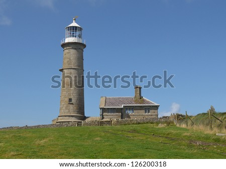 The Old Light, Lundy Island - stock photo