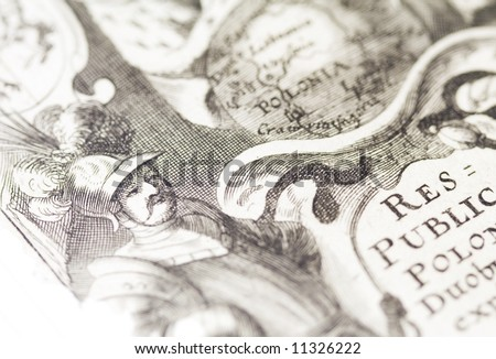 The old map. The old manuscript - stock photo