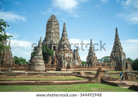 The old pagoda in Ayutthaya