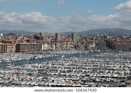 The old port of Marseilles, France