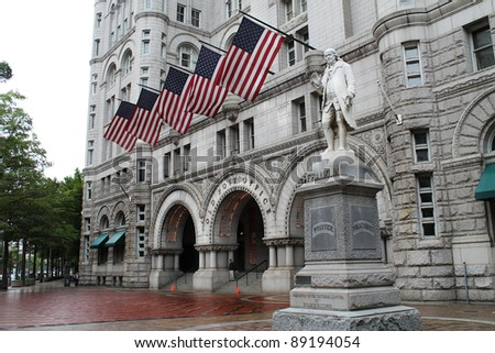 The Old Post Office in Washington DC - stock photo