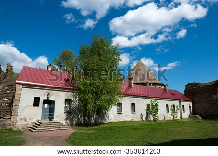 The old prison (secret house) Fortress Shlisselburg, aka Oreshek (Nut) on island in St. Petersburg region, Russia.