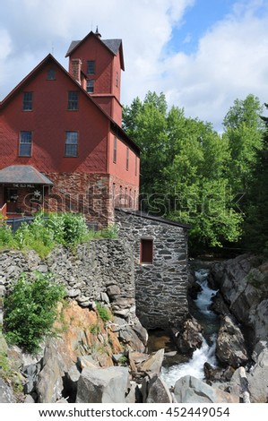 The old red mill in Jericho, Vermont, formerly Chittendon Mills