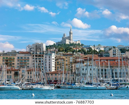 The old sea-port of Marseille - stock photo