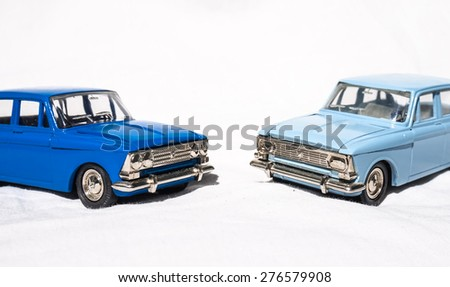 The old Soviet toys - cars  - stock photo