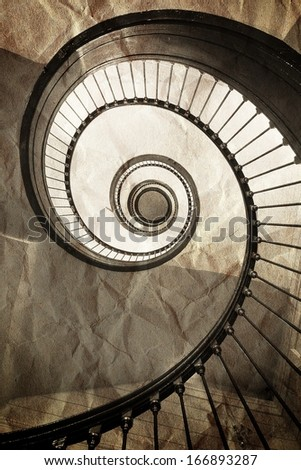 The old spiral staircase