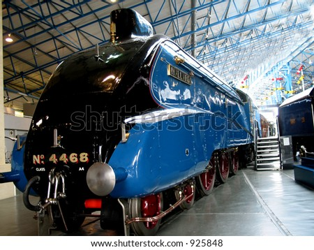 The old Steam Engine at rest. - stock photo