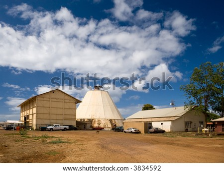 The old sugar mill is a well known landmark in Wailua, Hawaii. - stock photo