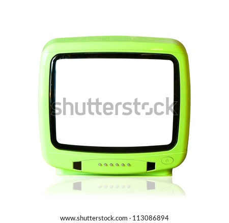The old television - stock photo