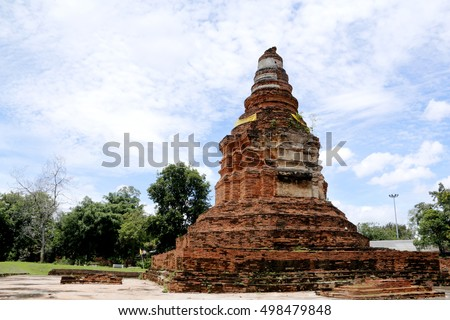 The old temple of Thailand.( Wiangkumkam Chiangrai Thailand.)