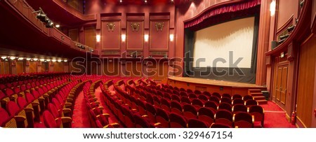 The old theater OLYMPION in Thessaloniki Build 1920 - stock photo