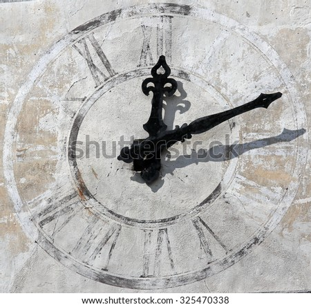 The old tower clock - stock photo