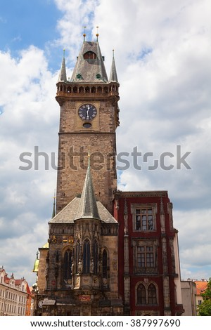 The Old Town Hall Prague in the Czech Republic