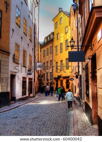 The Old Town in Stockholm, Sweden