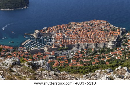 The Old Town of Dubrovnik, Croatia - stock photo