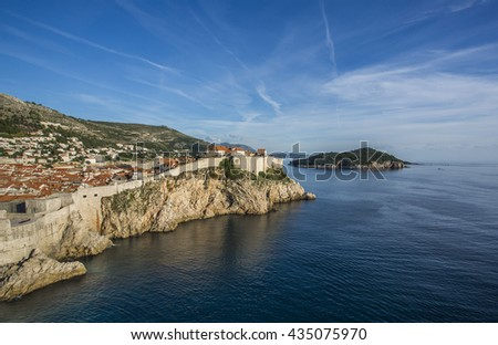 The old town of Dubrovnik, unesco world heritage, Croatia - stock photo