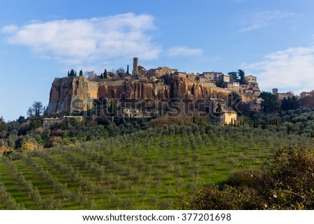 The old town of Orvieto in Umbria, Italy