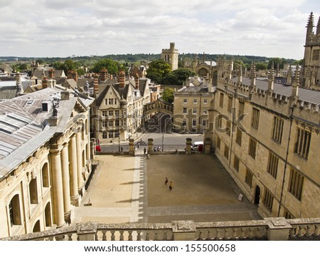 The old town of Oxford, England,    - stock photo