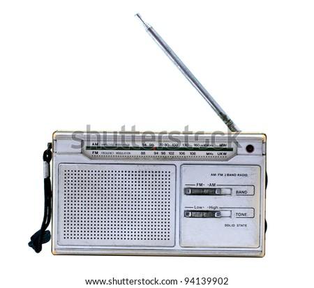 The old vintage radio - stock photo