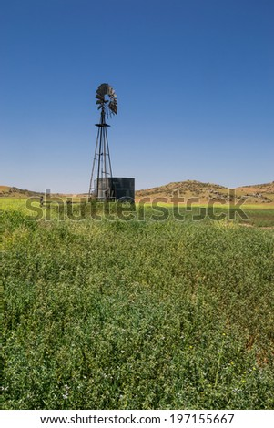 The old vintage windmill in Temecula, Southern California.