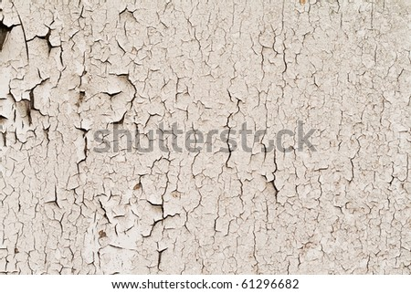 The old walls are covered with crumbling paint - stock photo