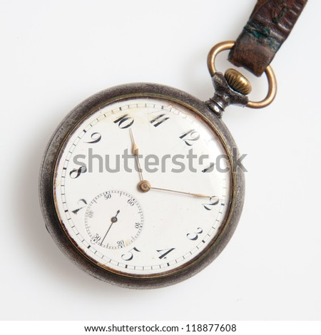 The old watch with marks of use - stock photo