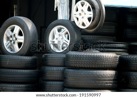 The old wheel tire for sale