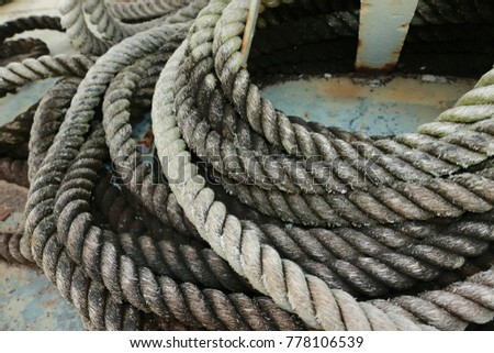 Old Wire Rope On Battleship Decommissioned Stock Photo & Image ...
