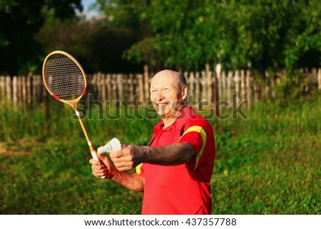 The Older people lead an active lifestyle. - stock photo