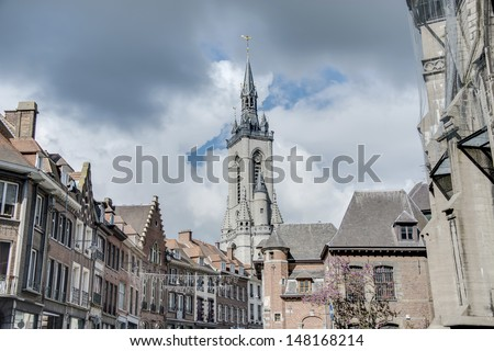 The oldest belfry in Belgium, a freestanding bell tower of medieval origin, 72 metres in height with a 256-step stairway in Tournai.