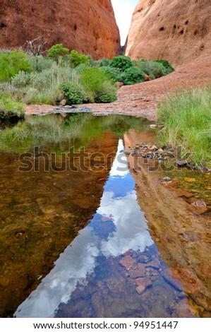 The Olgas, Australian desert - stock photo