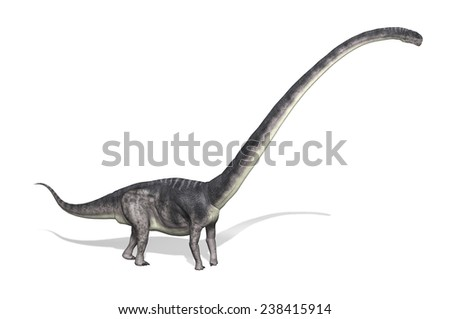 The Omeisaurus was a very large dinosaur that lived during the Jurassic period - 3d render - stock photo