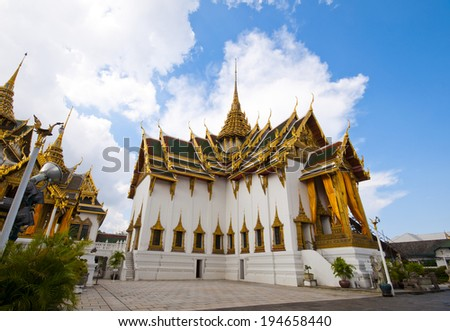 The one building in the grand palace. - stock photo