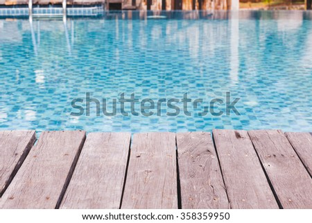 The open-air swiming pool - stock photo