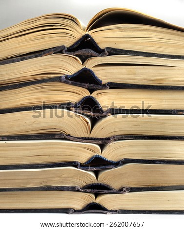 the open book folded on each other