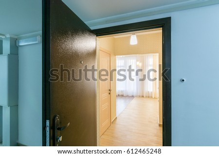 Open Front Door Renovated Apartment New Stock Photo 612465248 ...
