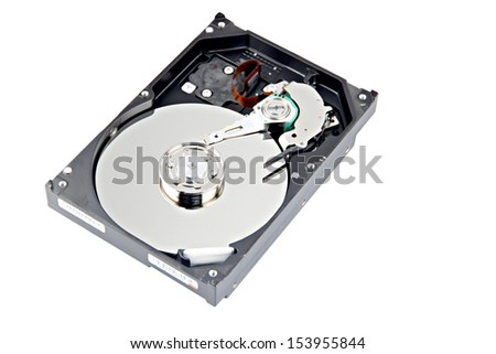 The open Hard disk and focus picture in Disk storage.