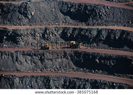 The Open pit - stock photo
