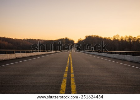 The Open Road - stock photo