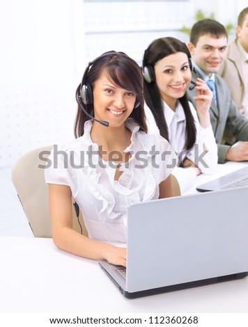 The operator of the company. - stock photo