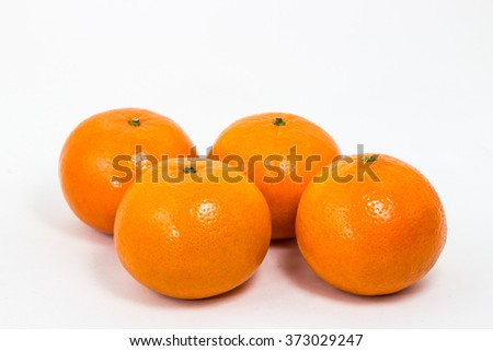 The Orange Fruit on White Background