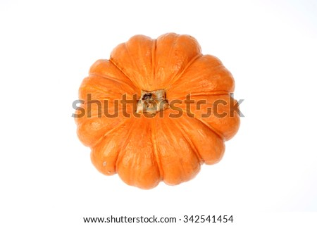 The orange pumpkin isolated on a white background