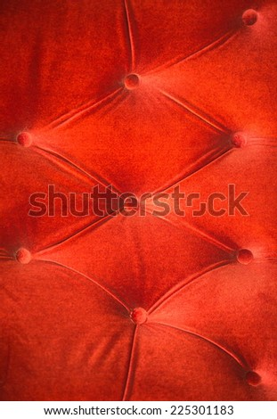 The orange velvet with button wall