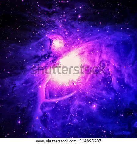 The Orion Nebula (also known as Messier 42, M42, or NGC 1976) is a diffuse nebula situated in the Milky Way. Elements of this image furnished by NASA