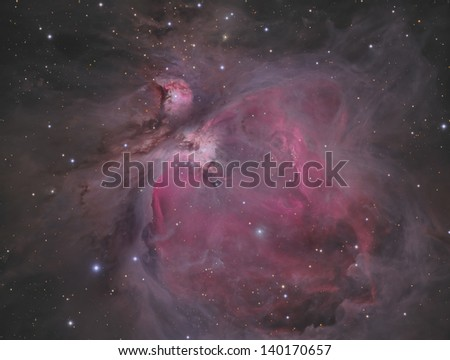 The Orion Nebula (M42) - A diffuse nebula in the constellation Orion
