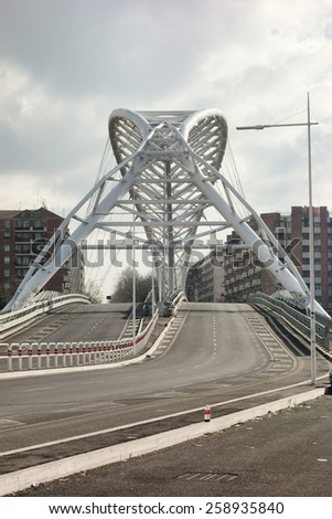 The Ostiense Bridge aka Garbatella Bridge in Rome, Italy - stock photo